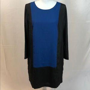 J. Crew Colorblock Shift Dress Size 10 NWT